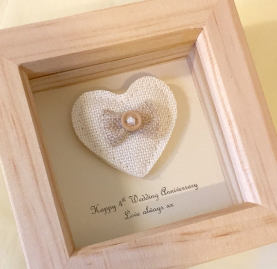 4th Wedding Anniversary Gift Linen Anniversary Present 4th