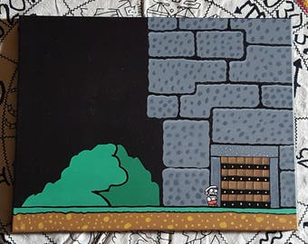 Super Mario World Dungeon painting