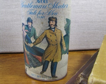 Avon Gentleman Skater - Talc for Men - Can and Contents