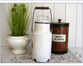 vintage enamel milk jug - country living