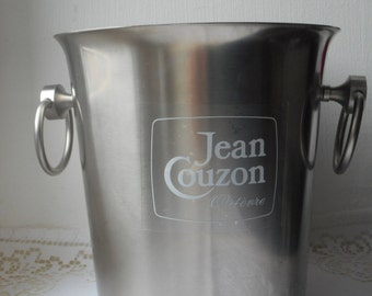 stunning vintage French Jean Couzon stainless steel champagne ice bucket