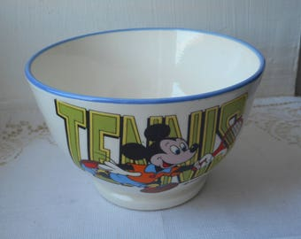 stunning vintage Italian Mickey mouse Disney cereal bowl / chocolate bowl