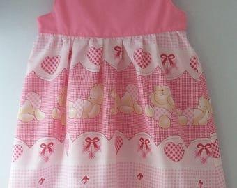 Cute Pink Teddy Bear Dress