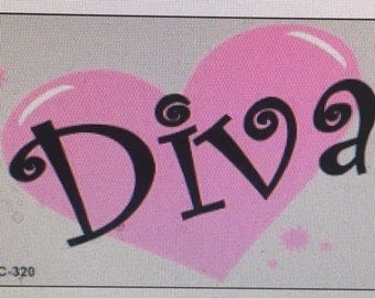 Diva key chain sent anywhere in the USA. Shipping included in price.