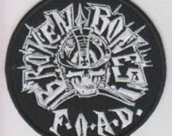 Broken Bones punk hardcore embroidered patch - Foad