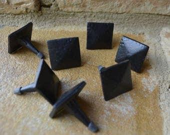 Rustic square nail for barn doors, decorative nails for barn doors,decorative square nail,rustic decorative nails for furniture,forged iron