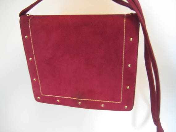Fuschia Suede Bag by Nieman Marcus