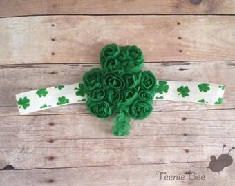 St Patrick's Day Headband - Shamrock Headband - Green Headband - Baby St Patrick's Day Headband - Clover headband
