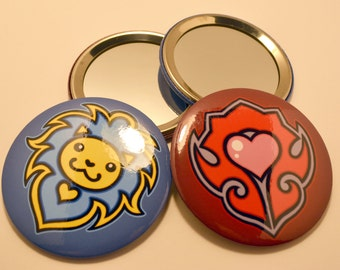 Cute Heart Pocket Mirrors - Warcraft Faction Inspired
