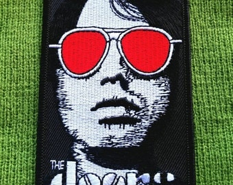 "The Doors  Embroidered Iron On Patch 4""×2 3/4"""