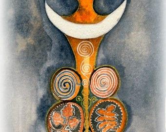 Horned Goddess / Elen Giclee Print