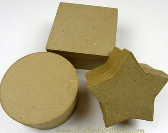Boxes of paper mache