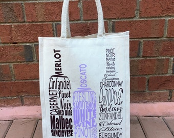 Red Wine and White Wine Tote Bag