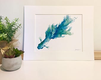 Watercolor Beta Fish Print