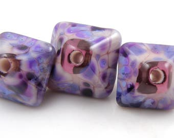 Dreaming Crystal Trio SRA Lampwork Handmade Artisan Glass Donut/Round Beads Made to Order 15mm and 18mm