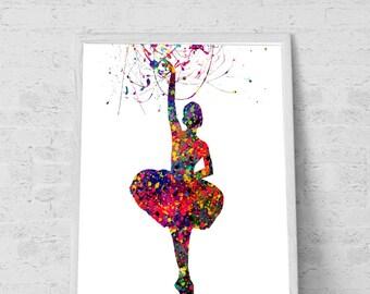Ballerina Chrismas gift Ballerina room Decor Colorful Girls room Decor Ballerina Printable File