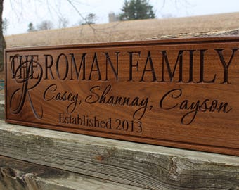 Custom wood personalized signs-wood family signs for home-personalized custom wooden signs-family name plaques-parents gift last name wall