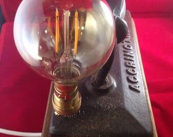 Steampunk snooker table iron lamp