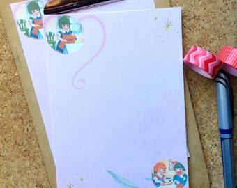 Cute Vintage Valentines Writing Paper Stationery