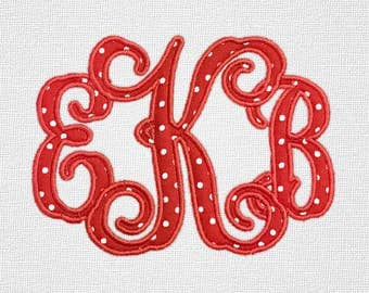 Vine Monogram Applique Machine Embroidery Monogram Alphabet Designs 7 Size Bx Embroidery Applique Fonts - INSTANT DOWNLOAD