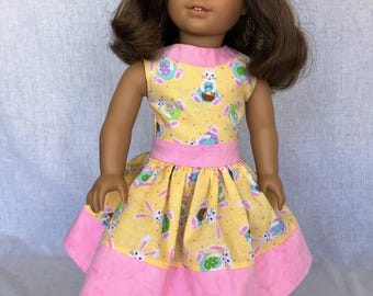 18 inch doll clothes - AG doll clothes - Easter dress - spring dress - fits 18 inch dolls