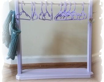 "Clothing rack for American Girl or other 18"" dolls"