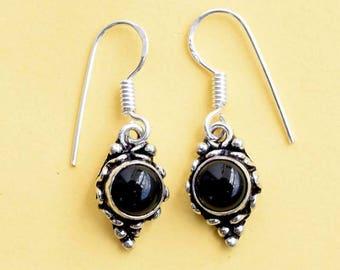 Black Onyx Earring, Black Onyx Stone , Black Onyx Stone Earring, Gift Earring, Black Onyx Earring, Earring, Earrings,