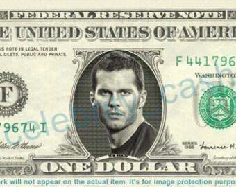 Tom Brady REAL Dollar Bill - Patriots