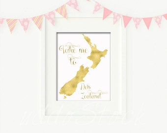 Take me to New Zealand Digital Art Printable