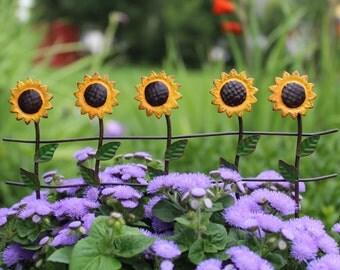Fairy Garden  - Sunflower Fence - Miniature