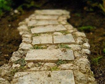 Fairy Garden  - Stone Walkway Path - Miniature