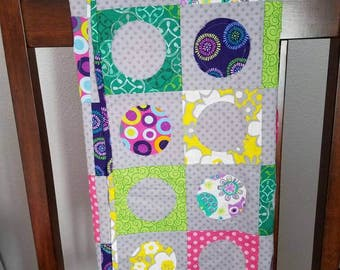 Baby Quilt, Circle Quilt, Toddler Quilt, Baby Blanket, crib bedding,  crib blanket,  nursery,  baby girl, baby shower gift, minky blanket