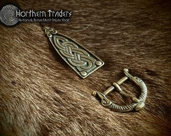 Scandinavian buckle and belt end