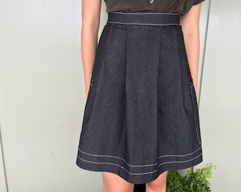 Full denim skirt | Etsy UK