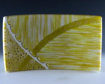 Sunflower Yellow and Cream Sushi Plate