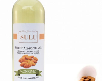 100% Pure Sweet Almond oil organic nutrient rich almond oil from 4 oz up to 7 lbs