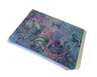 Gift card holder, Small Bi-fold wallet, Stocking stuffer, Credit card holder, Batik wallet, Business card holder, Fabric ID card wallet