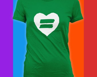 Equality Heart Shirt - Equal Rights Shirt, Gay Pride,Equal Rights Protest, Womens Rights, Gay Marriage,Anti Trump Rally, Bodysuit CT-830