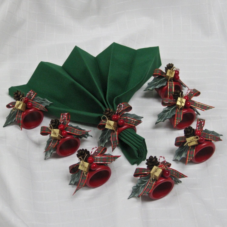 Christmas Napkin Rings Set Of 8