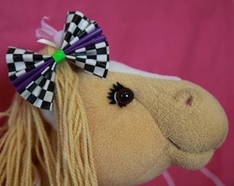 Medium Duck Tape Hair Bow *Checkerboard*