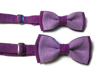 father son matching linen bow ties purple lilac bow tie purple lavender bowtie for boy purple wedding purple bow ties for men gift son djfhu