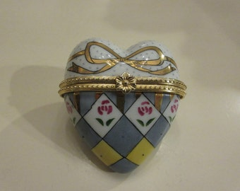 CHINA HEART TRINKET Box