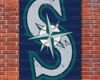 Seattle Mariners Graffiti- Art Print - Perfect for Mancave