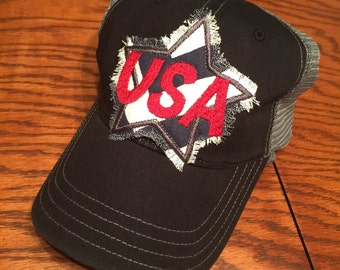 USA Star Patch Cap-USA, United States of America, July 4th, Christmas, Mother's Day, Gift, Patriotic