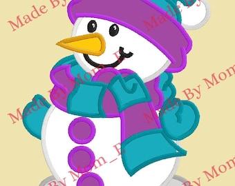 Scarfy Snowman Applique