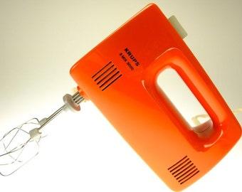 Mixer Handmixer Krups Hand stirrer electrically orange red Vintage Retro TR 2334