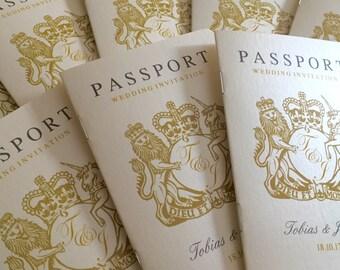 Passport Wedding Invitation   Beach   Travel   Abroad Wedding