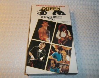 QUEEN We Will Rock You VHS Video cassette tape Live Concert 1992 Freddie Mercury Bohemian Rhapsody Day At The Races Night At The Opera