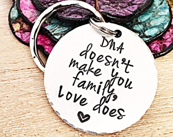 Stepfather Gift, Gift for Step Dad, Step Parent Keychain, Step Mother Gift,  Mothers Day Gift for Stepmom, Fathers Day Gift for Stepdad