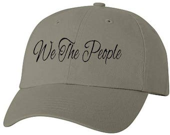 We The People Patriotic Baseball Style Cap Hat